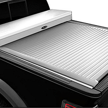 Load image into Gallery viewer, TRUCK COVERS USA® | CRT313 American Work Tool Box Hard Retractable Manual Tonneau Cover - myTonneau