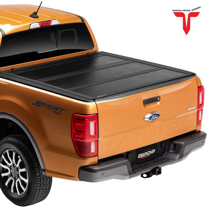 Undercover FX21022 Flex Hard Folding Truck Bed Tonneau Cover | Fits 19-20 Ford Ranger 5' Bed
