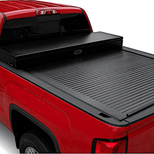 Load image into Gallery viewer, TRUCK COVERS USA® | CRT340WHITE American Work Tool Box Hard Retractable Manual Tonneau Cover - myTonneau