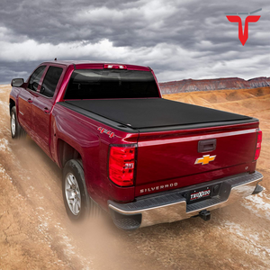 "TruXedo Pro X15 1463701 Soft Roll Up Truck Bed Tonneau Cover | Fits 2007-20 Toyota Tundra w/o Track System 5'6"" bed"