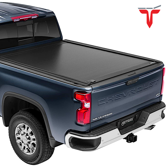 RETRAX™ 60484 RetraxONE MX Retractable Truck Bed Tonneau Cover | Fits 2020 Chevy Silverado & GMC Sierra HD 6.9' 2500/3500 (2020) (does not fit with factory side storage boxes) 6' 9