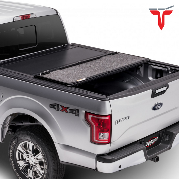 Undercover UX42008 Ultra Flex Hard Folding Truck Bed Tonneau Cover | Fits 07-20 Toyota Tundra with Rail System 5'5