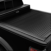 Load image into Gallery viewer, TRUCK COVERS USA® | CRJR101-A American Work Jr. Tool Box Hard Retractable Metal Tonneau Cover - myTonneau