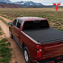 "Load image into Gallery viewer, EXTANG™ Xceed 85653 Hard Folding Truck Bed Tonneau Cover | Fits 2020 Chevy/GMC Silverado/Sierra, 2500HD/3500HD (does not fit with factory side storage boxes) 6'9"" Bed"