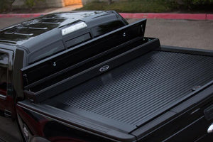TRUCK COVERS USA® | CRJR142XB American Work Jr. Tool XBox Line-X Hard Retractable Metal Tonneau Cover CRJR142XBOX - myTonneau