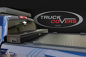 TRUCK COVERS USA® | CRJR303WHITE American Work Jr. Tool Box Hard Retractable Metal Tonneau Cover - myTonneau