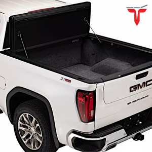"EXTANG™ Xceed 85653 Hard Folding Truck Bed Tonneau Cover | Fits 2020 Chevy/GMC Silverado/Sierra, 2500HD/3500HD (does not fit with factory side storage boxes) 6'9"" Bed"