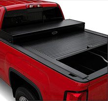 Load image into Gallery viewer, TRUCK COVERS USA® | CRT142 American Work Tool Box Hard Retractable Manual Tonneau Cover - myTonneau