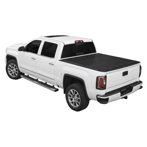 LOMAX Hard Tri-Fold Cover for 2014-2018 Chevy/GMC Full Size 1500 and 2015-2018 Chevy/GMC Full Size 2500/3500 6ft. 6in. Box