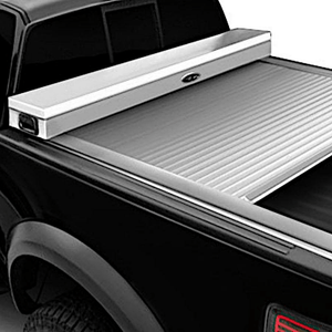 TRUCK COVERS USA® | CRJR402WHITE American Work Jr. Tool Box Hard Retractable Metal Tonneau Cover - myTonneau