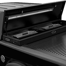 Load image into Gallery viewer, TRUCK COVERS USA® | CRT140XBOX American Work Tool XBox Line-X Hard Retractable Manual Tonneau Cover CRT140XB - myTonneau