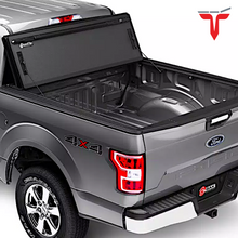 "Load image into Gallery viewer, BAK™ 448227 BAKFlip MX4 Hard Folding Truck Bed Tonneau Cover | Fits 2019-20 New Body Style (6 lugs) Dodge Ram 1500, Does Not Fit With Multi-Function (Split) Tailgate 5'7"" Bed"