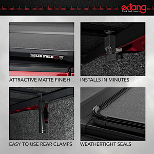 "EXTANG 83645 SOLID FOLD 2.0 Hard Folding Truck Bed Tonneau Cover | Fits 2007-13 Chevy/GMC - Silverado/Sierra 5'8"" Bed"