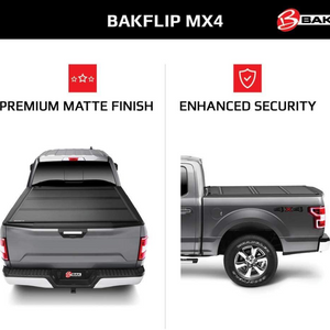"BAK™ 448227 BAKFlip MX4 Hard Folding Truck Bed Tonneau Cover | Fits 2019-20 New Body Style (6 lugs) Dodge Ram 1500, Does Not Fit With Multi-Function (Split) Tailgate 5'7"" Bed"