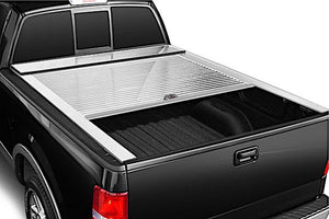 TRUCK COVERS USA® | CR205WHITE American Roll Hard Retractable Metal Tonneau Cover - myTonneau