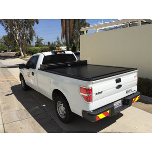 TRUCK COVERS USA® | CRT141 American Work Tool Box Hard Retractable Manual Tonneau Cover - myTonneau