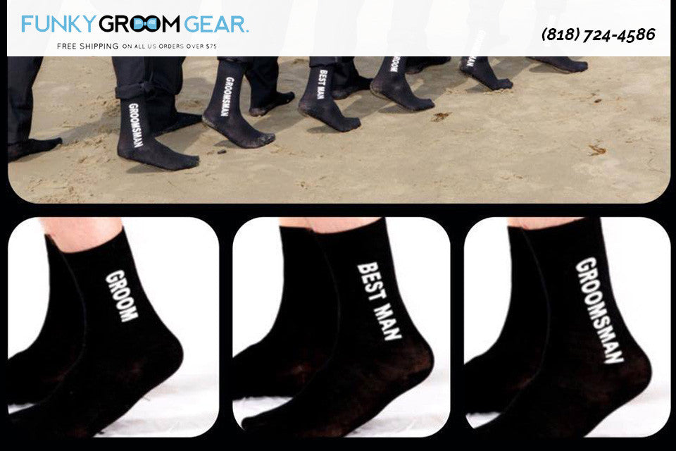 Fun and Comfort All in One with Our Groomsmen Socks