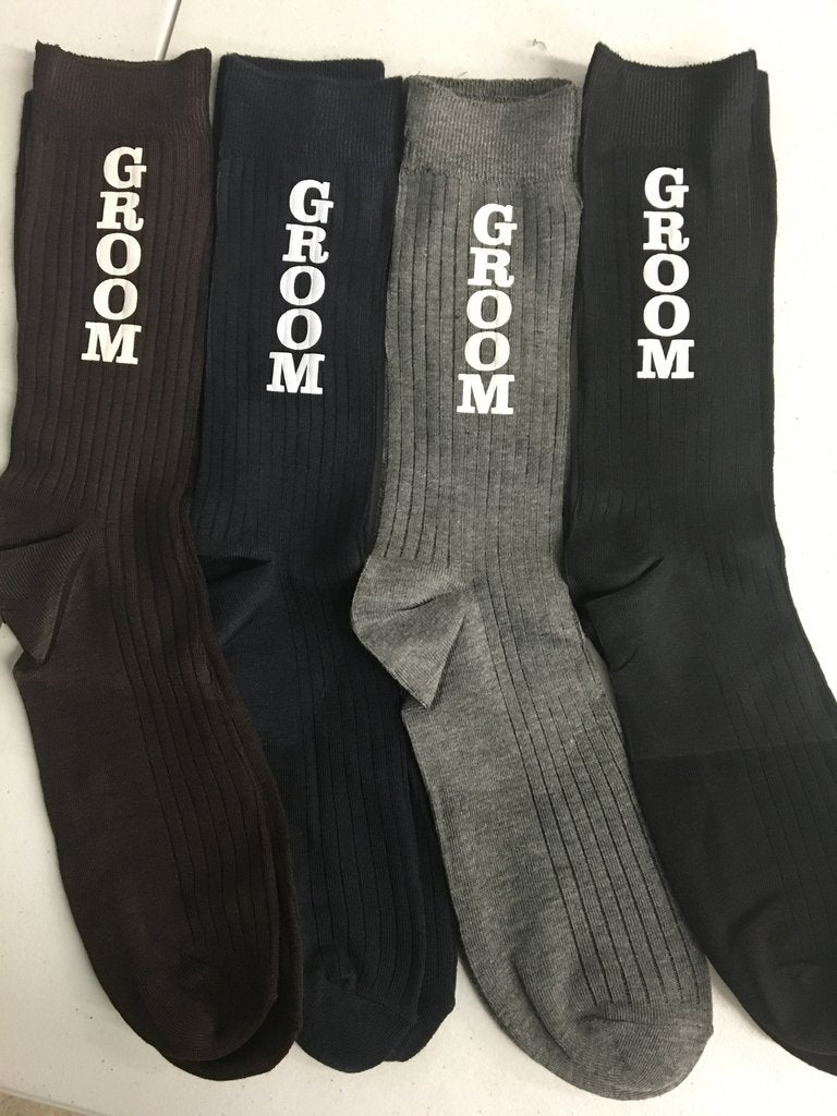 Let Your Man Show His Fun Side with Wedding Socks for the Groom