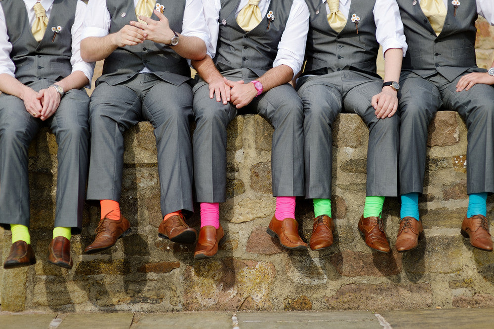 Match it Up with Groomsman Socks for the Guys