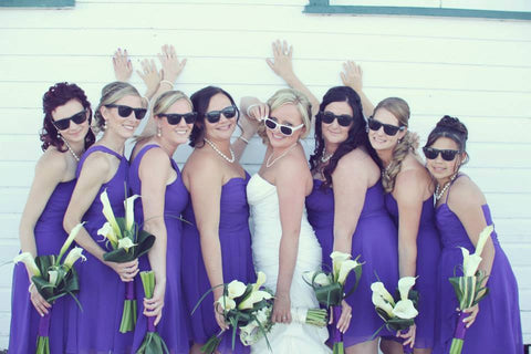 Sets of Printed Bridal Party Sunglasses on SALE!