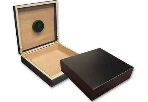 Engraved Humidor Cigar Box - Personalized Cigar Box with Humidor