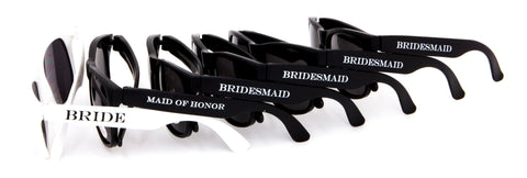 6 pack of Printed Brides Party Sunglasses $40!