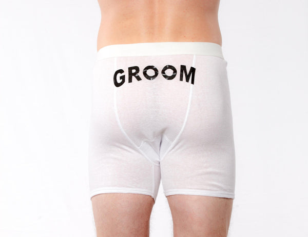 Groom Boxer Briefs Printed