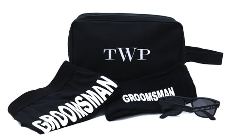 Monogrammed Toiletry Bag Gift Set for GROOMSMAN