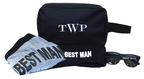 Monogrammed Toiletry Bag Gift Set for the BEST MAN