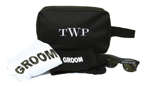Monogrammed Toiletry Bag Gift Set for the GROOM