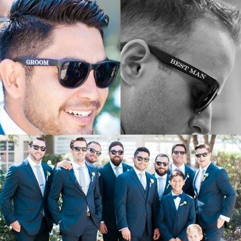 Printed Groomsmen Sunglasses / PACKAGES on SALE / Groomsmen Gift
