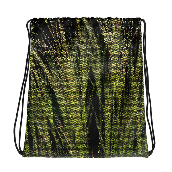Green Grass Drawstring Bag