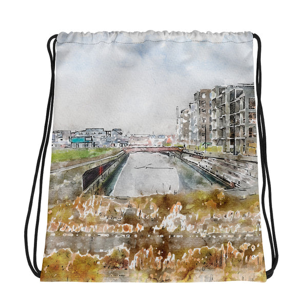 The Canal City Fredericia Drawstring Bag