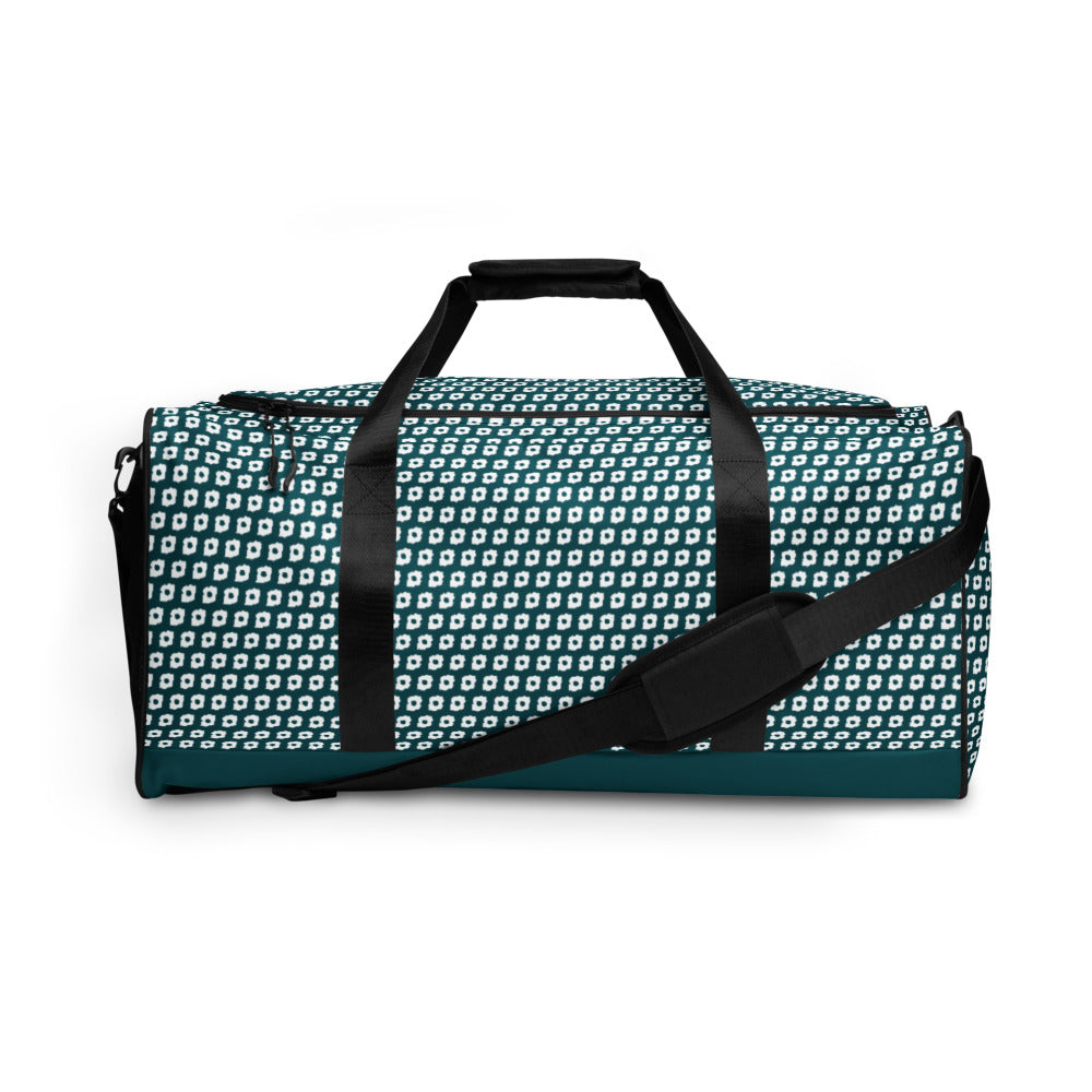 Cornus Canadensis Blue Green Duffle Bag