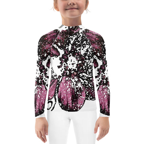Chocolate Cosmos 3 Kids Rash Guard