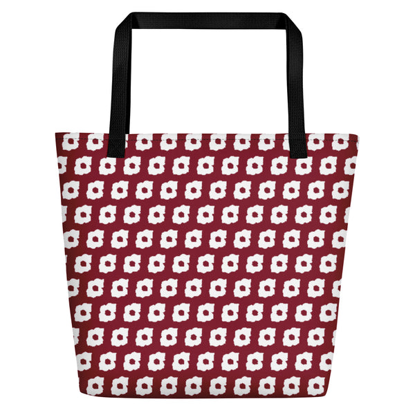 Cornus Canadensis Dark Red Beach Bag