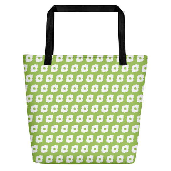 Cornus Canadensis Spring Green Beach Bag