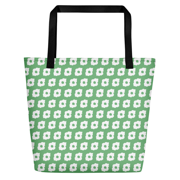 Cornus Canadensis Green Beach Bag