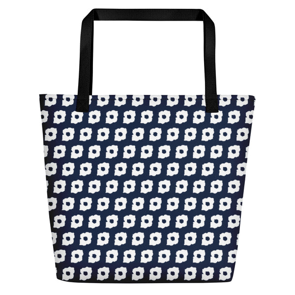 Cornus Canadensis Navy Beach Bag