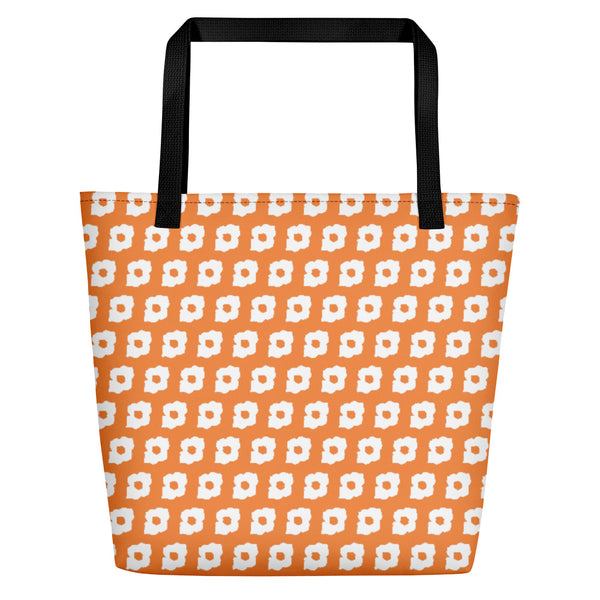 Cornus Canadensis Light Orange Beach Bag