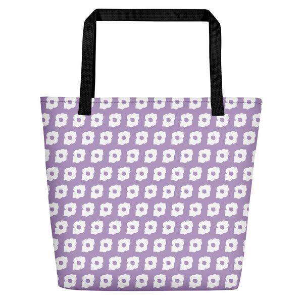 Cornus Canadensis Light Purple Beach Bag