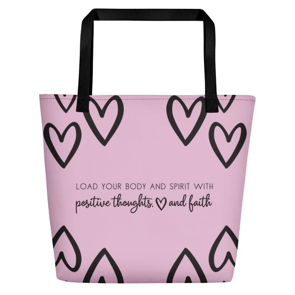 Love & Faith Rosa Beach Bag CC