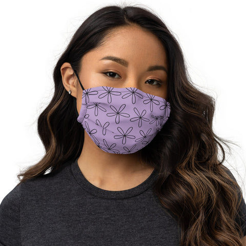 CS Flower Premium Face Mask Light Purple