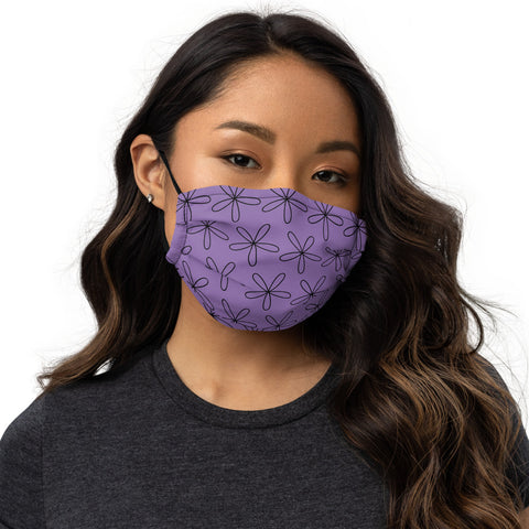 CS Flower Premium Face Mask Purple