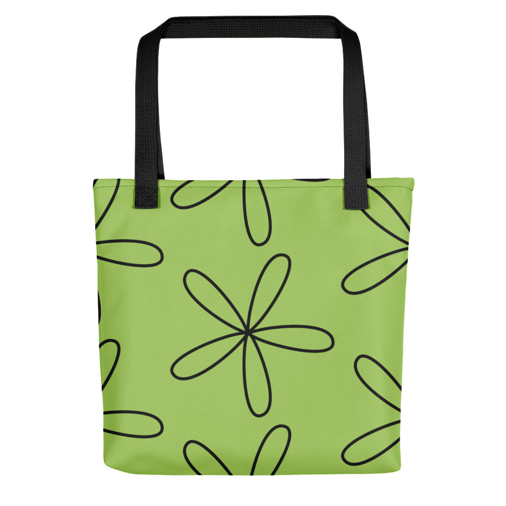 Big CS Flower Tote Bag Spring Green