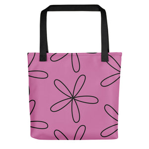 Big CS Flower Tote Bag Fuchsia