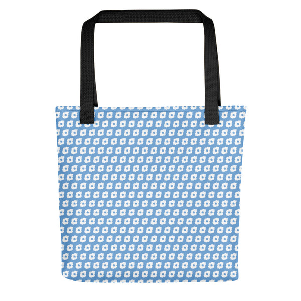 Tiny Cornus Canadensis Light Blue Tote Bag
