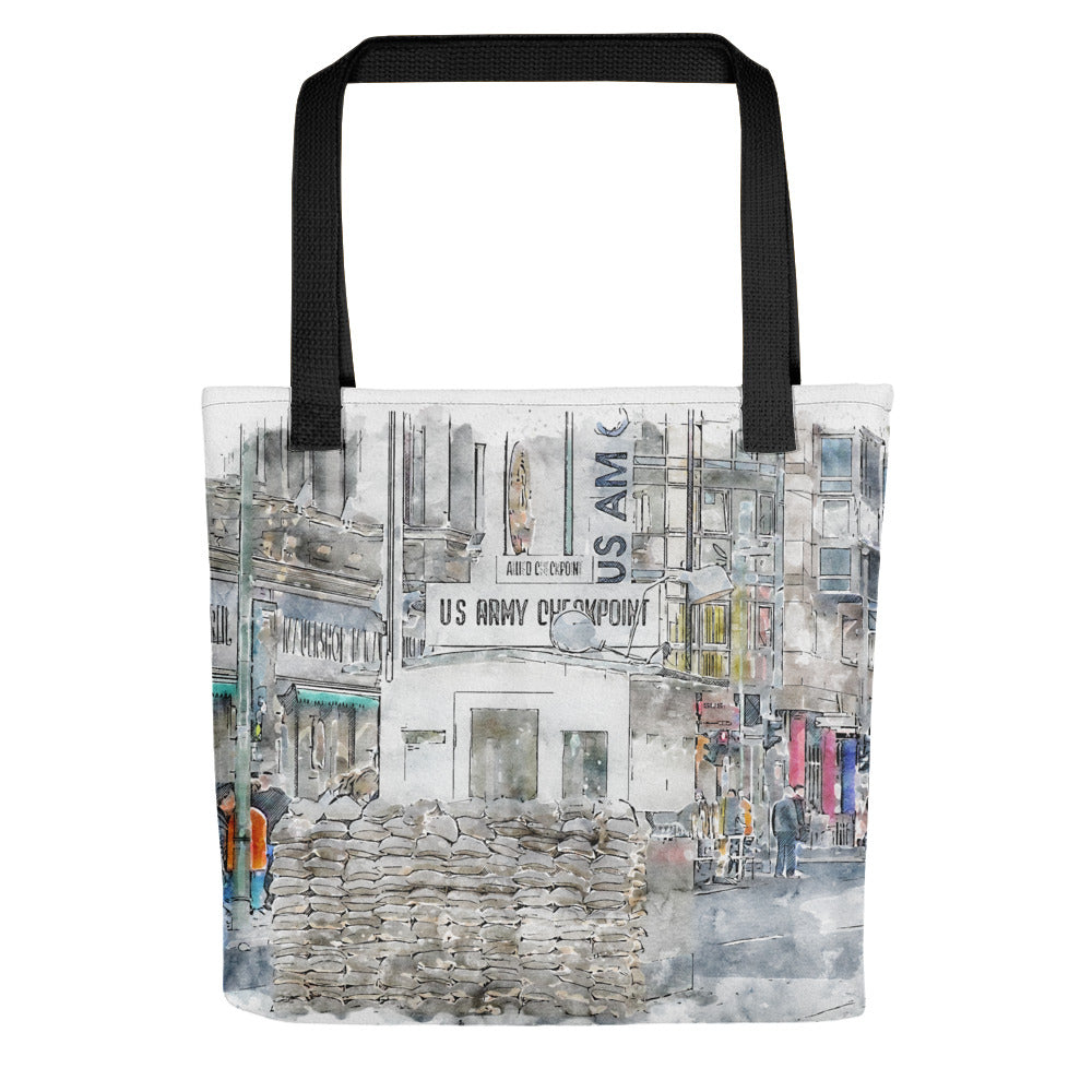 Checkpoint Charlie Berlin Tote Bag
