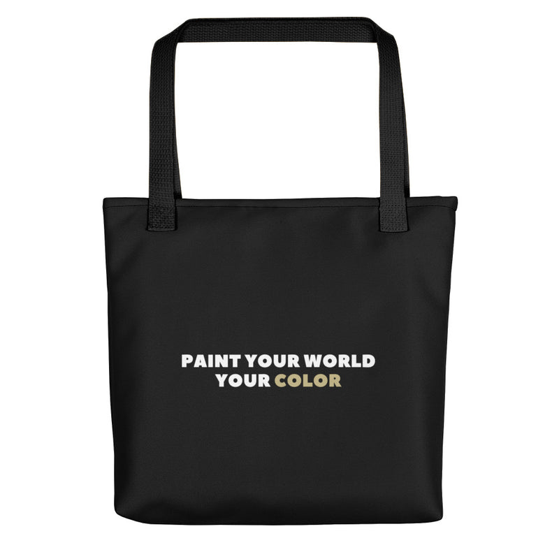 Paint Your World Your Color Tote Bag Black CC