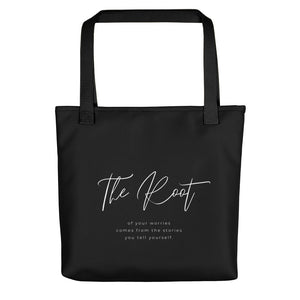 The Root Of Your Worries Tote Bag Black CC